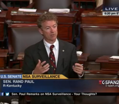 Rand Paul Filibusters Patriot Act Extension